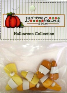 Candy Corn-Halloween Collection - Buttons Galore - 4528