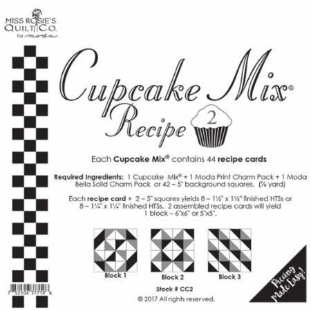 Cupcake Recipe #2 - Miss Rosie's Quilt Company/44 Recipe cards - CC2