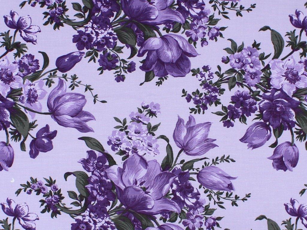 Choice Fabrics - Elegant Blooms-Large Floral/Lavender - CD-11000-007