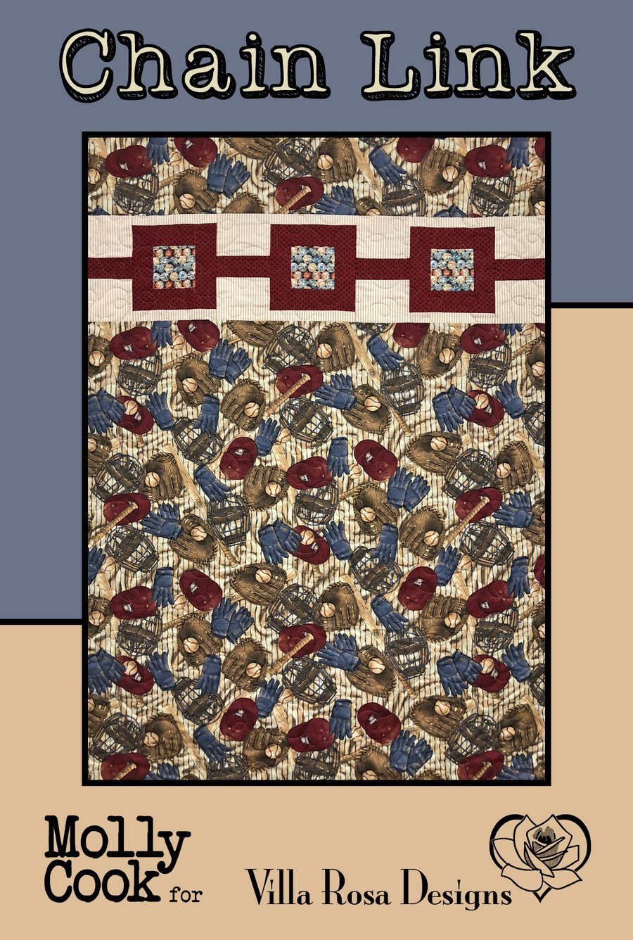 Chain Link - Villa Rosa QUILT KIT - Diaphanous - 42 x 63
