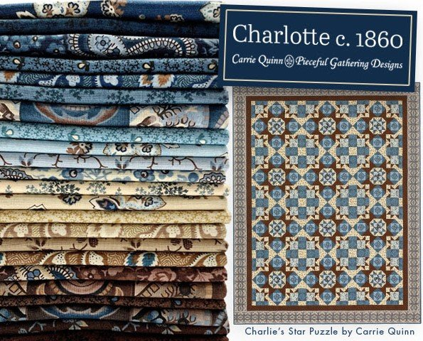 Charlotte c. 1860 Quilt KIT - Charlie's Star Puzzle - 67 x 85