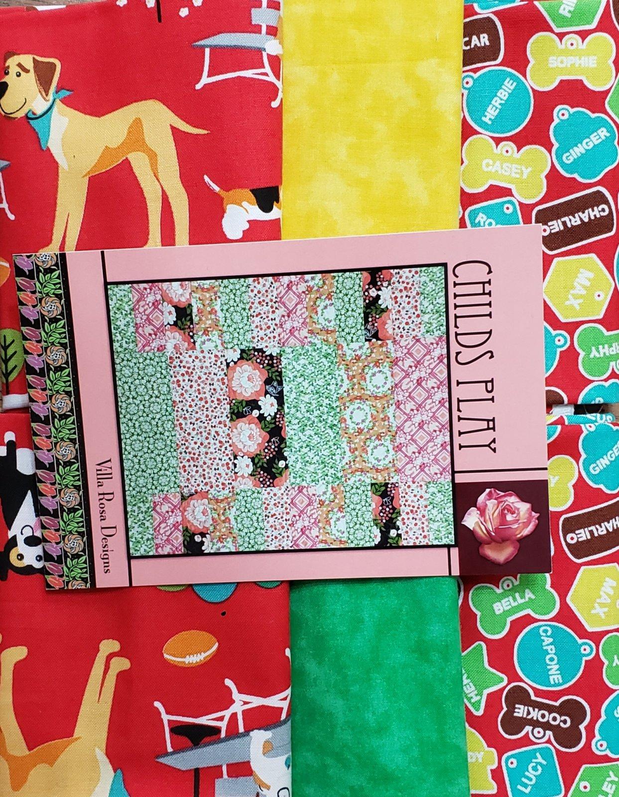 Childs Play - Villa Rosa QUILT KIT - Dog Park/StudioE - 39 x 45 - FQ Friendly