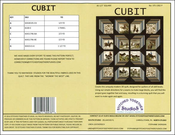 Cubit Western-Stitched Together Studio-STS 1302 P