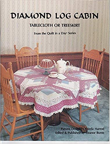 Diamond Log Cabin Tablecloth or Tree Skirt - Quilt In A Day
