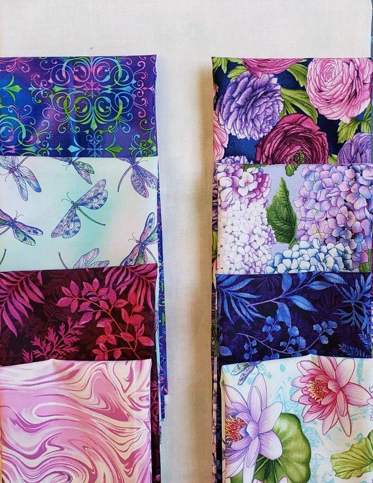 Claudette  - Villa Rosa-QUILT KIT - Dragonfly Garden  - 57 x 75