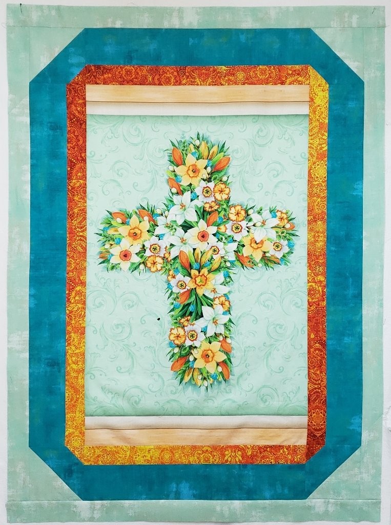 Easter Cross Wall Hanging KIT - Foxfire - 39 x 54