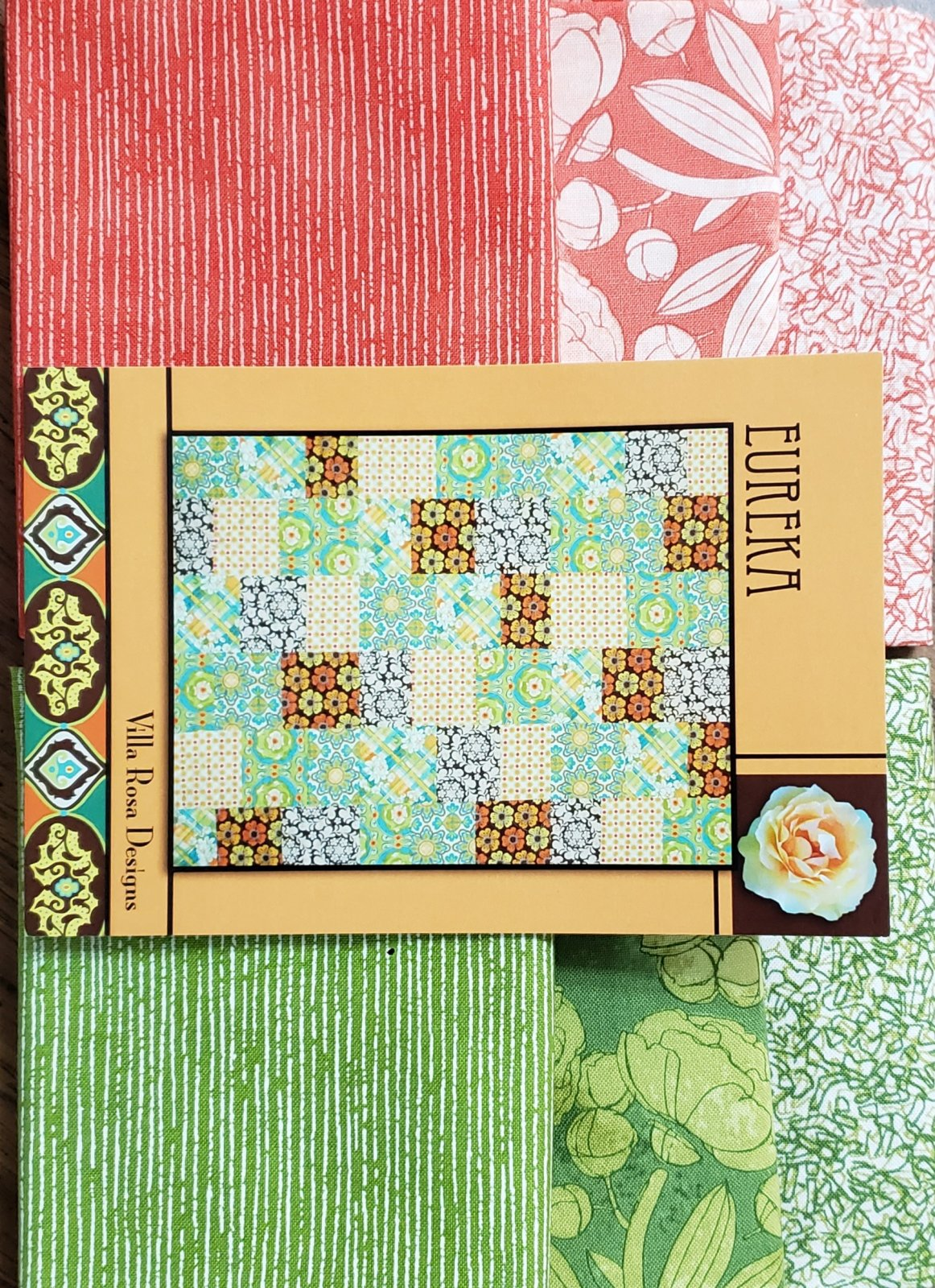 Eureka/Villa Rosa Quilt KIT - Moda/Blushing Peonies - 36x45 (46x55 with optional border) FQ Friendly