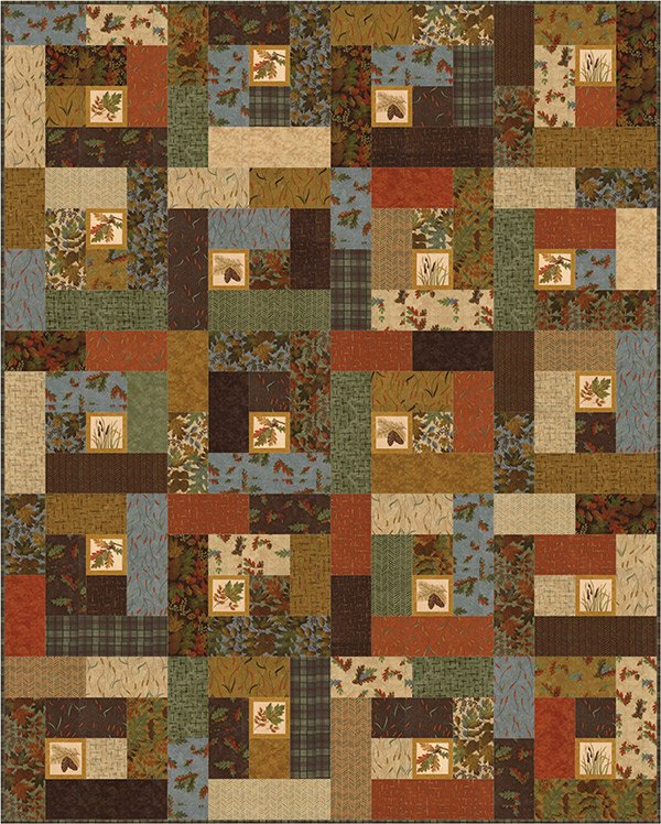 Fall Impressions Quilt KIT/Green - Antler Quilt Designs 48 x 64 (Lap)