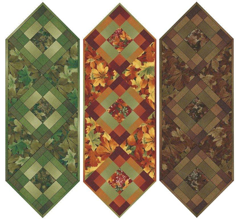 Maywood - Falling Leaves - 3 in 1 TableRunner KIT - Maywood - MASFAL