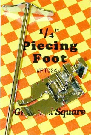 1/4in Piecing Foot With Guide Low Shank - Euro Notions - FT024-L - SALE
