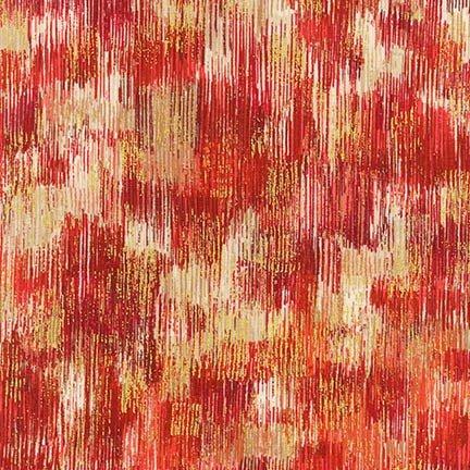 Robert Kaufman - Fusions Brushwork-Metallic Tonal Blender-Poppy - 18059-302