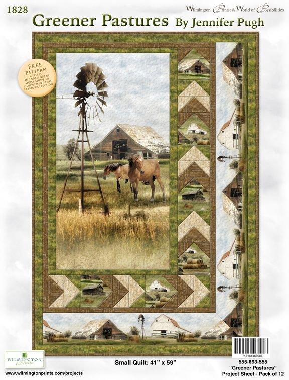 Wilmington - Greener Pastures Quilt KIT - 41 x 59