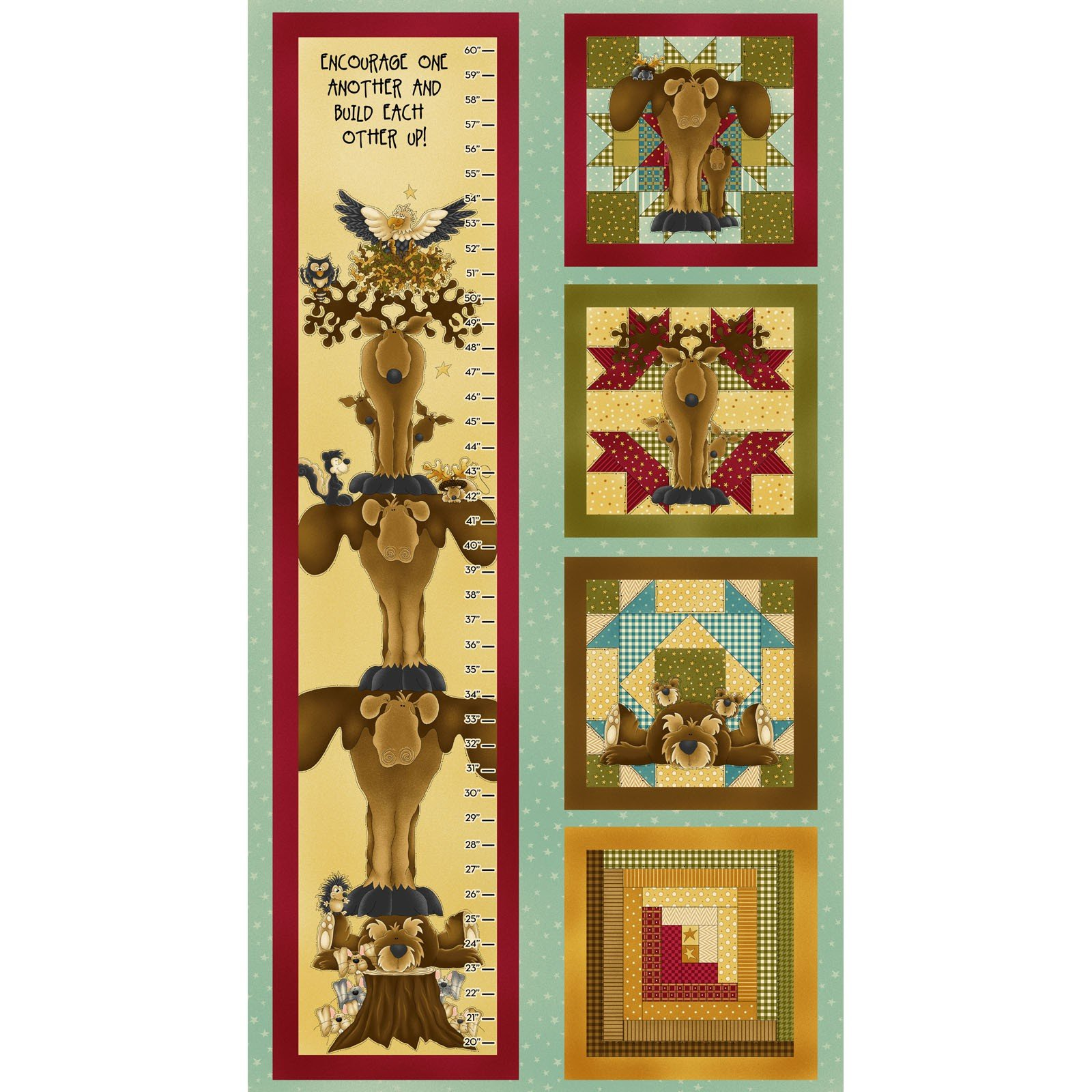 Henry Glass - Build Each Other Up Panel- Growth Chart - 8353P-77 - 5-J