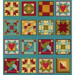Henry Glass - Build Each Other Up-Quilt Blocks/Panel - 8354-77