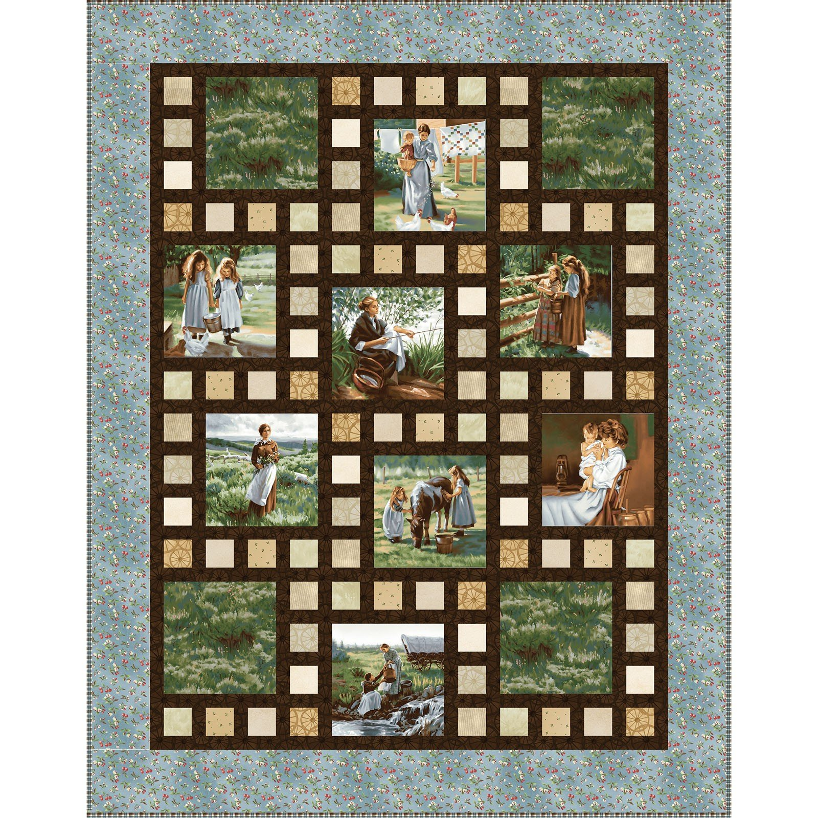 scrap cabin kit jordan log pre fabrics block cut steel scrappy online kits happy cotton jumbo collections quilt