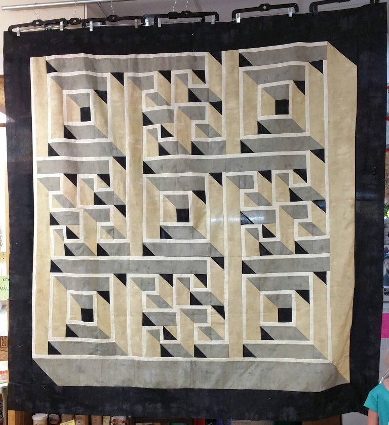 Free Labyrinth Quilt Pattern Delectable Labyrinth Walk The Guilty Mesmerizing Labyrinth Walk Quilt Pattern Free