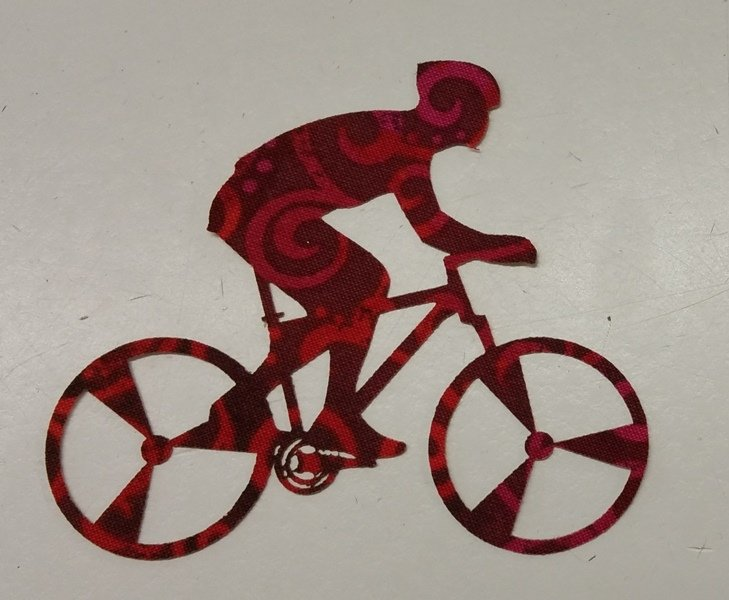 Bicyclist - Laser Cut - Set of 3-Red Bycylist - Red Rooster