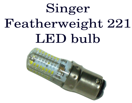 Light Bulb-8 LED Bayonet-Singer 221 - 110V - BA15D-8