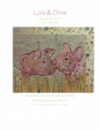 Lola & Olive Collage - Laura Heine - Pigs - LHFWLO
