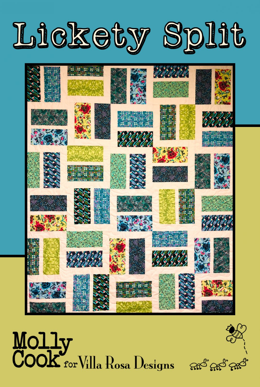 Lickety Split - Villa Rosa Quilt KIT - Radiant Paisley Fall - 60 x 72