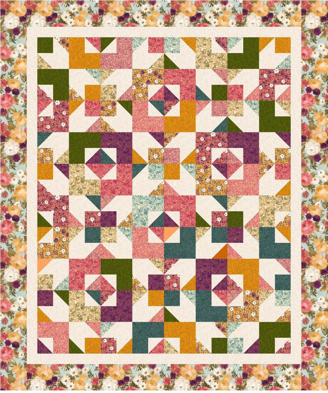 Lilian - DayDreams Quilt KIT - 62 x 74