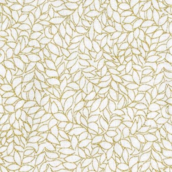 Blank Quilting - Honeystone Hill-Metallic-Leaf/White/Gold - M3795-03