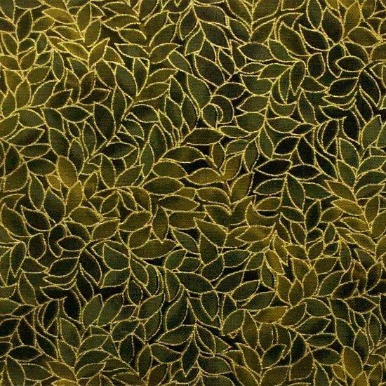 Blank Quilting - Honeystone Hill-Metallic-Leaf/Avacodo - M3795-66