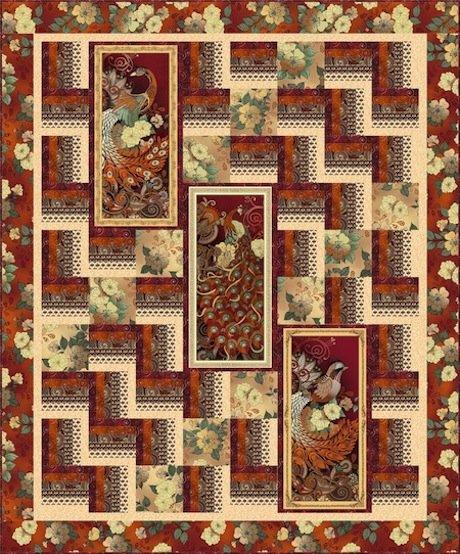 Manor House QUILT KIT - QT Fabrics - 59 x 71