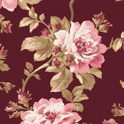 Maywood - Burgundy & Blush-Trailing Roses - MAS9360-M