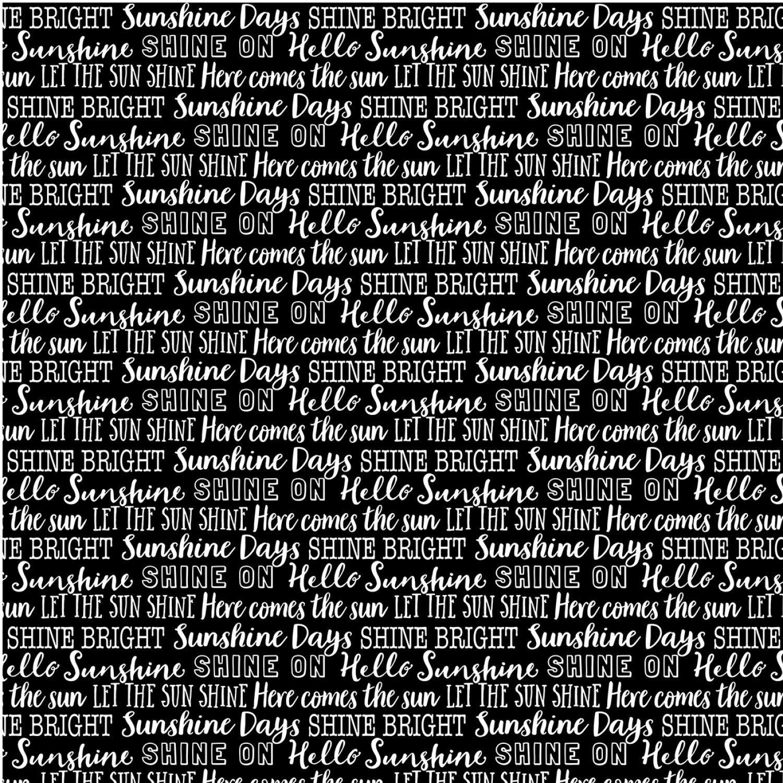 Michael Miller - Hello Sunshine-Shine On Words/Black - DC10170-Black