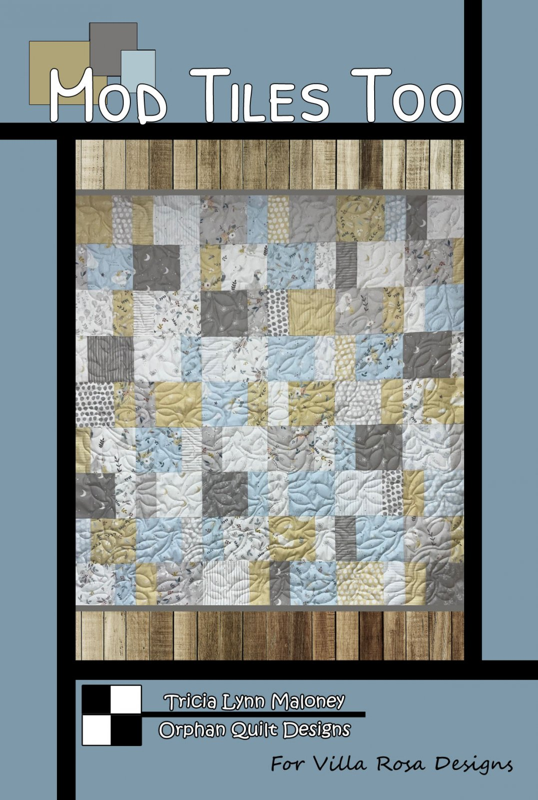 Mod Tiles Too - Villa Rosa - 39x40 (47 x 48 opt. border) - 5 Squares