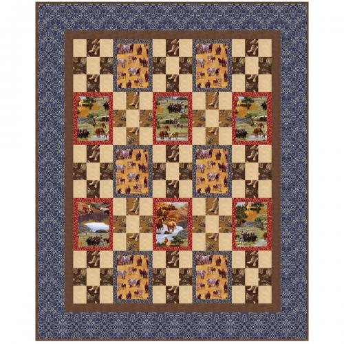 Happy Trails - On the Trail QUILT KIT - 61 X 76