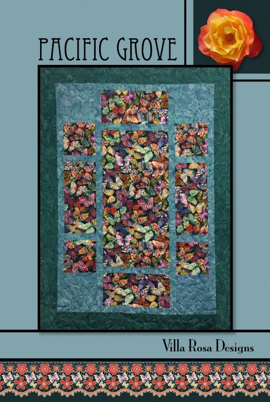Pacific Grove-Villa Rosa QUILT KIT - Natures Leaves -  46 x 62