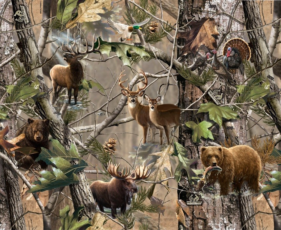Print Concepts - Real Tree-Animals/Forest - 9902