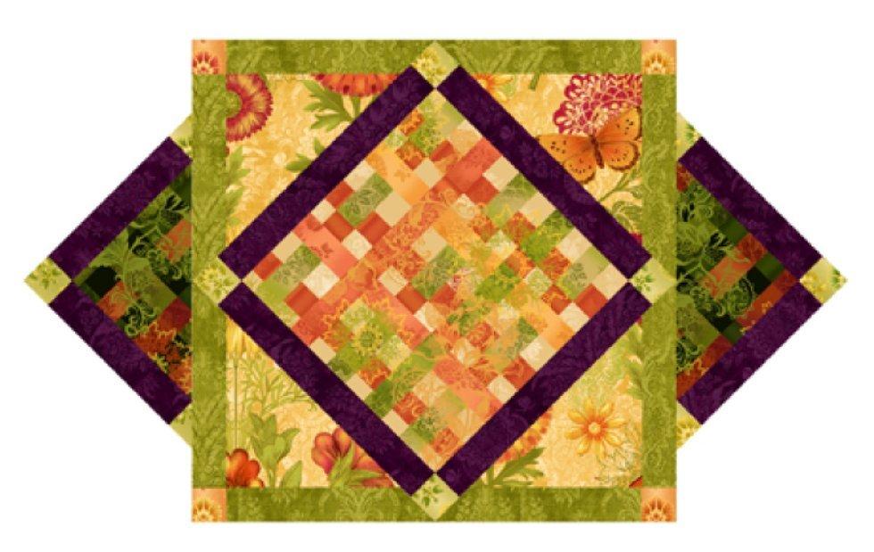 StudioE - Joyful Blooms-Table Topper Runner-FREE Download