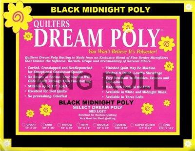 *Batting - Quilters Dream - 120 BLACK -  BLAC4KFR25