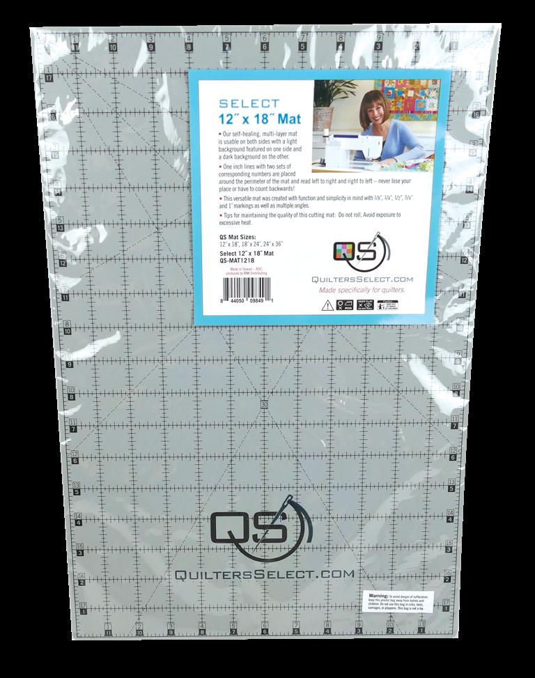 Cutting Mat-12 x 18 - Quilters Select - MAT1218