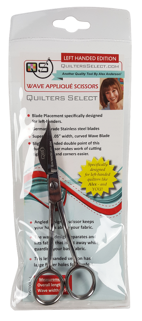 Applique Scissor-WAVE/Left Hand - Quilters Select - QSTOOL1-L