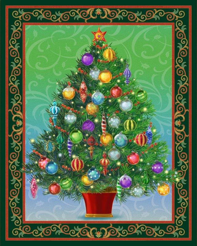 Quilting Treasures-Christmas Tree Panel Lighted - PROJECT SHEET : christmas tree quilt - Adamdwight.com