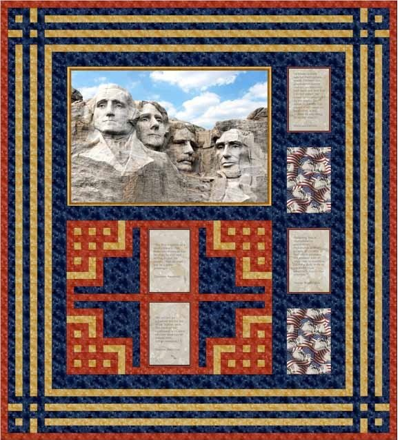 Quilting Treasures-Mt. Rushmore-Project Sheet