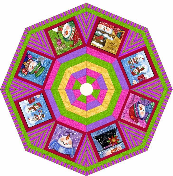 Quilting Treasures-Snow Friends-Tree Skirt-Project Sheet-FREE