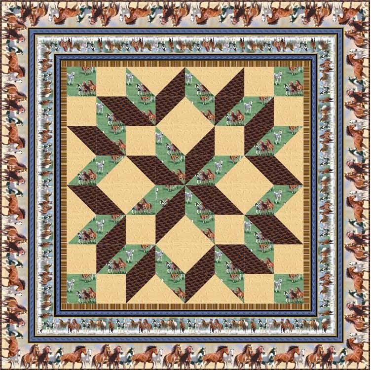 Quilting Treasures-Wild Horses FREE Project Sheet