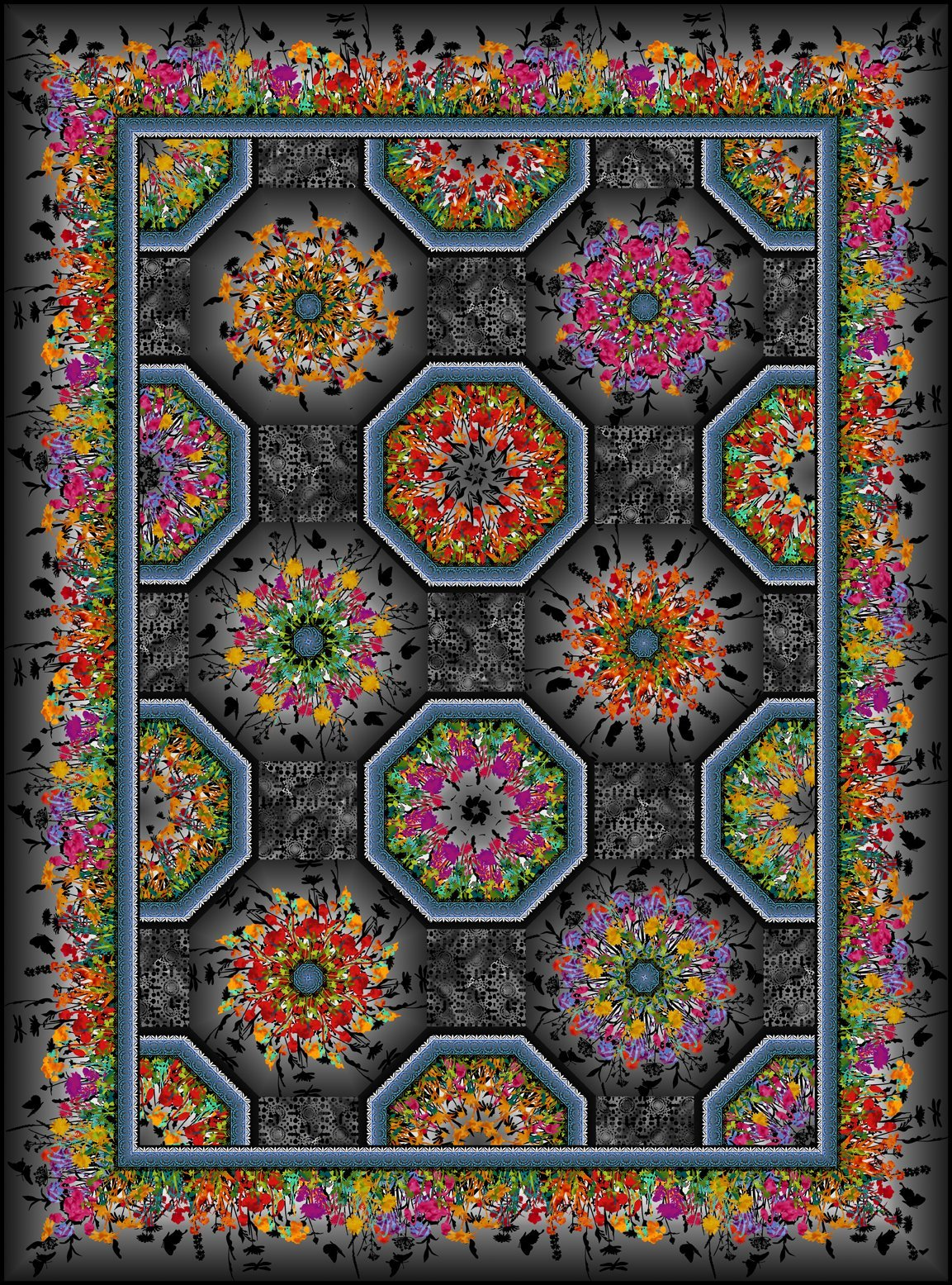 Dreamscapes II Quilt KIT - Multi/Black - In the Beginning