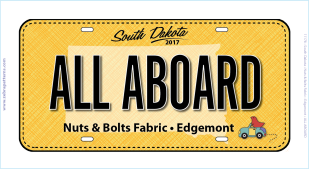 2017 Row by Row 2017 ALL ABOARD License Plate
