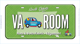 2018 Row by Row 2018 Nut & Bolts License Plate