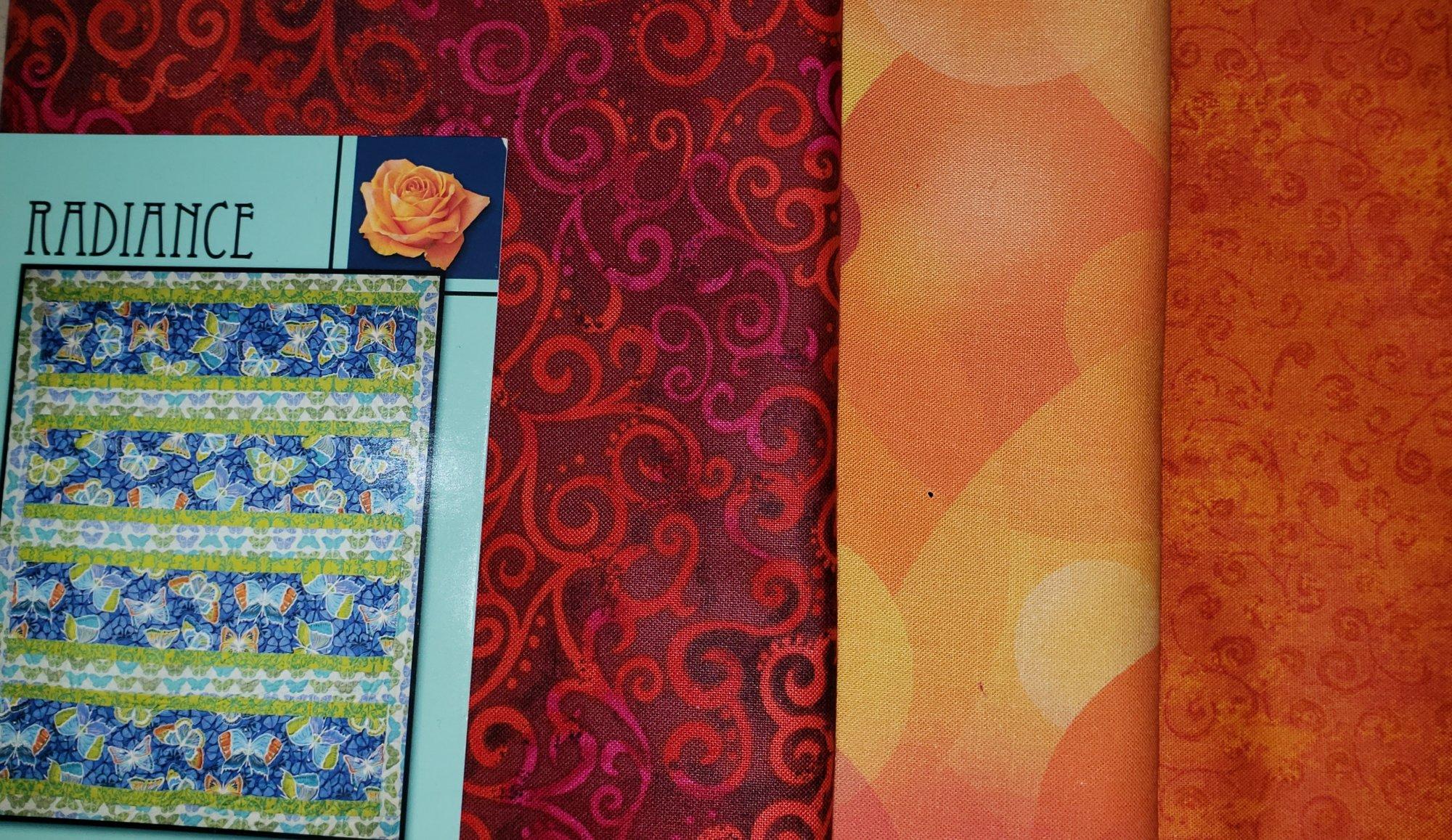 Radiance - Tangerine Quilt KIT - Villa Rosa - 47 x 60