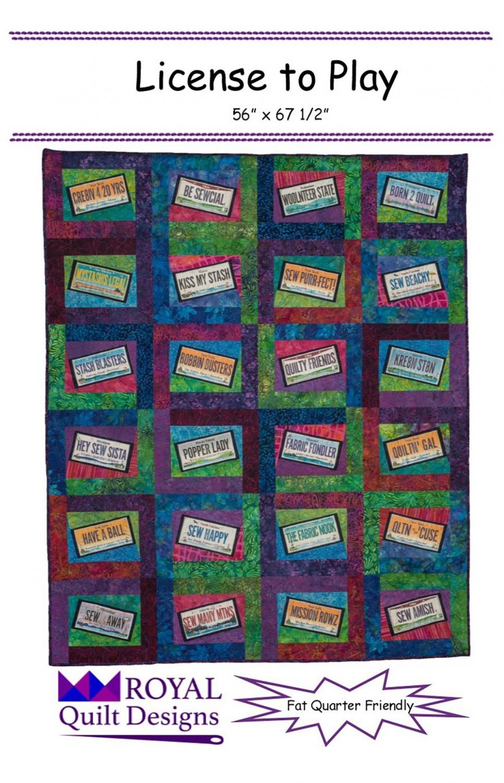 License To Play-Royal Quilt Designs LLC - RQD113