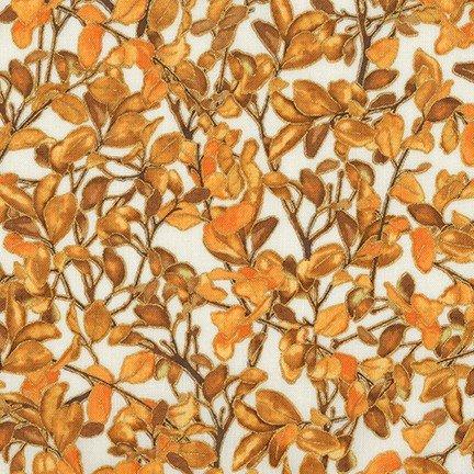 Robert Kaufman - Shades of the Season 11 - Leafy Branches/WHT - 17451-196