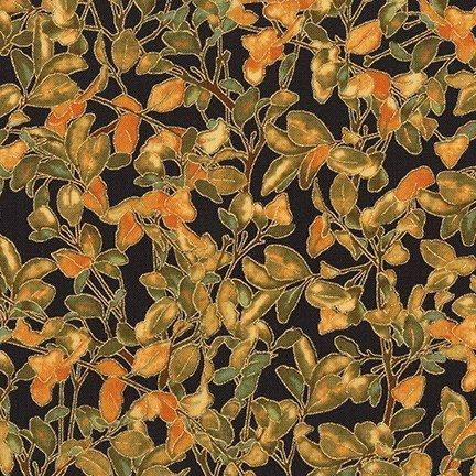 Robert Kaufman - Shades of the Season 11 - Leafy Branches/BLK - 17451-2