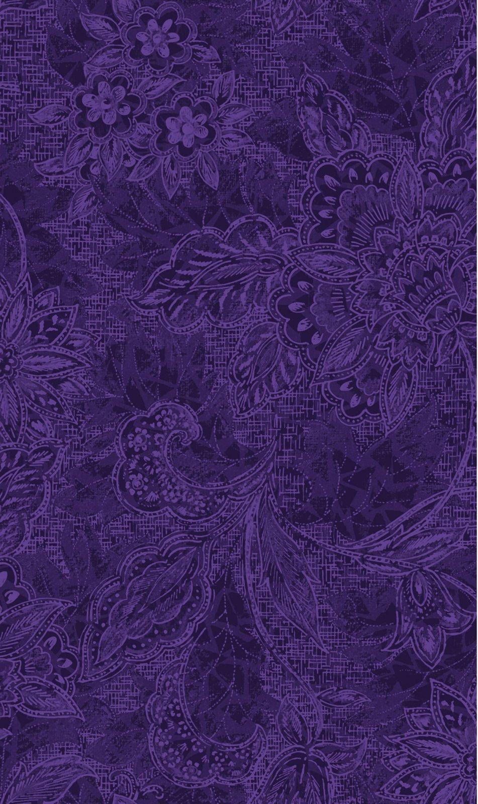 Oasis Fabrics - 118 Wide Quilt Back - Shadow-Jacquard/Amethyst - 1830809/18